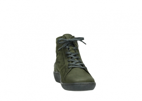 wolky lace up boots 08130 zeus 50730 forest green oiled leather_18