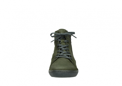 wolky lace up boots 08130 zeus 50730 forest green oiled leather_19