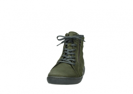 wolky lace up boots 08130 zeus 50730 forest green oiled leather_20