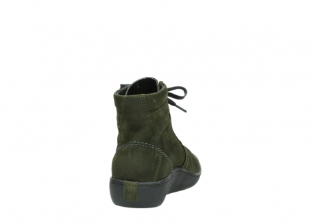 wolky lace up boots 08130 zeus 50730 forest green oiled leather_8