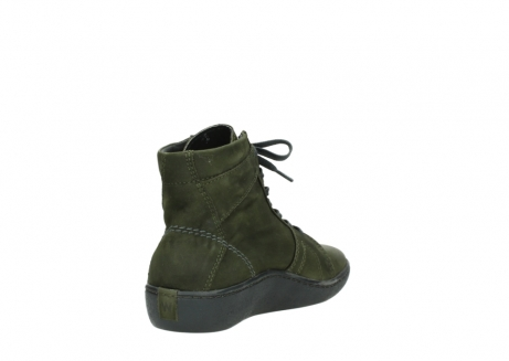wolky lace up boots 08130 zeus 50730 forest green oiled leather_9
