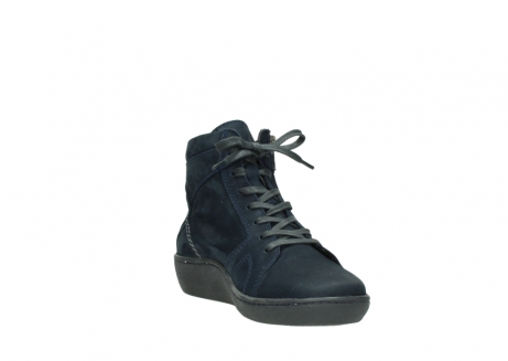wolky lace up boots 08130 zeus 50800 blue oiled leather_17