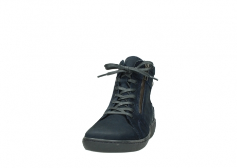 wolky lace up boots 08130 zeus 50800 blue oiled leather_20