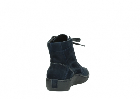 wolky lace up boots 08130 zeus 50800 blue oiled leather_8