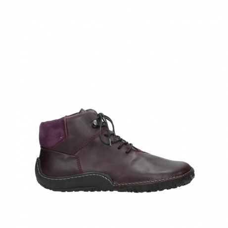 wolky bottines a lacets 08361 mokola 50600 cuir mauve fonce
