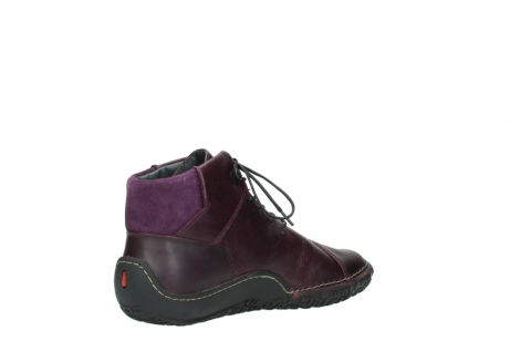 wolky lace up boots 08361 mokola 50600 dark purple black oiled leather_10