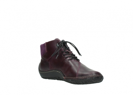 wolky lace up boots 08361 mokola 50600 dark purple black oiled leather_16