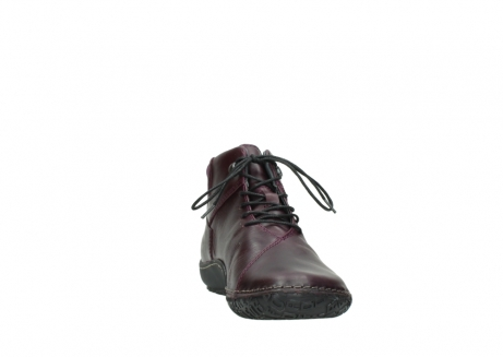 wolky lace up boots 08361 mokola 50600 dark purple black oiled leather_18