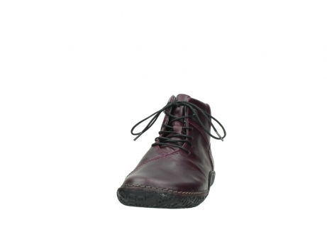 wolky lace up boots 08361 mokola 50600 dark purple black oiled leather_20