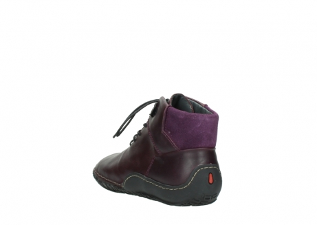 wolky lace up boots 08361 mokola 50600 dark purple black oiled leather_5