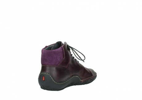 wolky lace up boots 08361 mokola 50600 dark purple black oiled leather_9