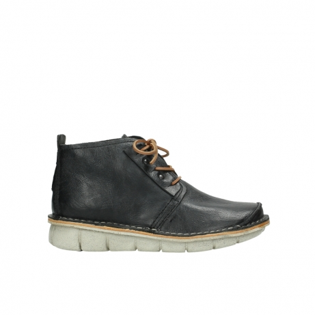 wolky lace up boots 08386 iberia 30070 black summer leather