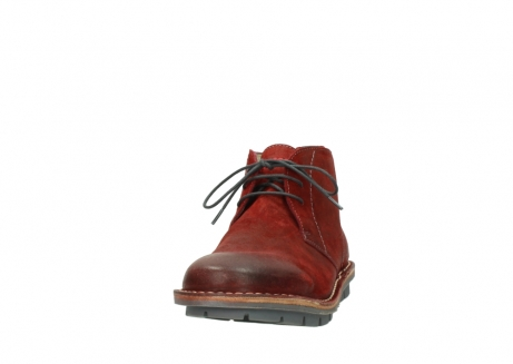 wolky lace up boots 08555 negev 40500 red suede_20
