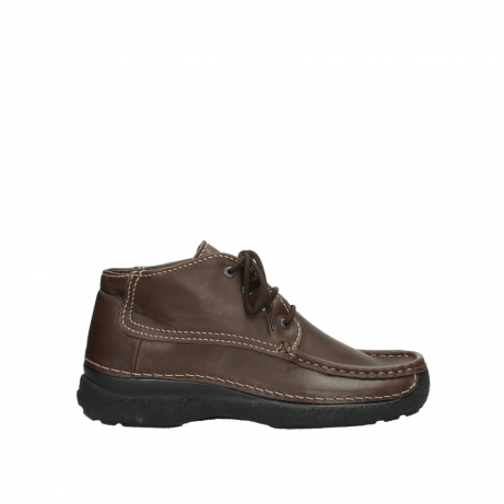 wolky bottines a lacets 09203 roll moc men 50300 cuir marron