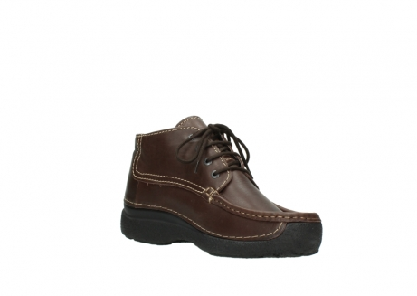 wolky bottines a lacets 09203 roll moc men 50300 cuir marron_16