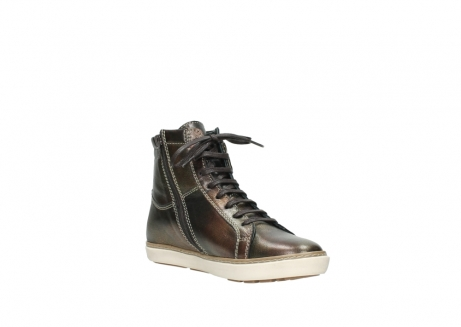 wolky lace up boots 09453 ontario 90320 bronze metallic leather_16