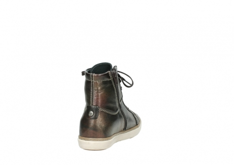 wolky lace up boots 09453 ontario 90320 bronze metallic leather_8