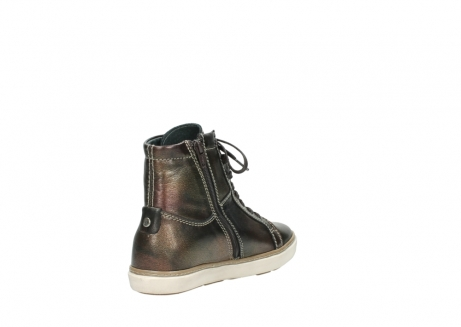 wolky lace up boots 09453 ontario 90320 bronze metallic leather_9
