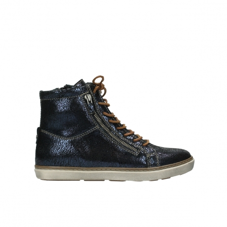 wolky lace up boots 09453 ontario 90800 dark blue craquelac leather