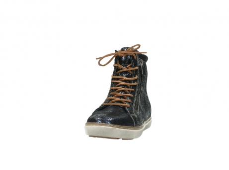 wolky lace up boots 09453 ontario 90800 dark blue craquelac leather_20