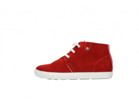 wolky bottines a lacets 09460 columbia 40500 suede rouge_1