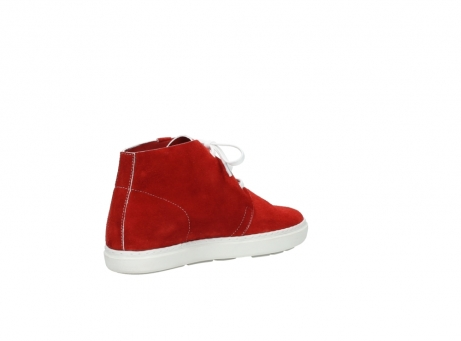 wolky bottines a lacets 09460 columbia 40500 suede rouge_10