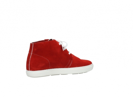 wolky bottines a lacets 09460 columbia 40500 suede rouge_11