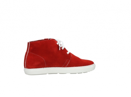 wolky bottines a lacets 09460 columbia 40500 suede rouge_12