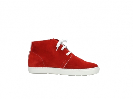 wolky bottines a lacets 09460 columbia 40500 suede rouge_14