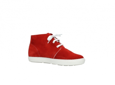 wolky bottines a lacets 09460 columbia 40500 suede rouge_15