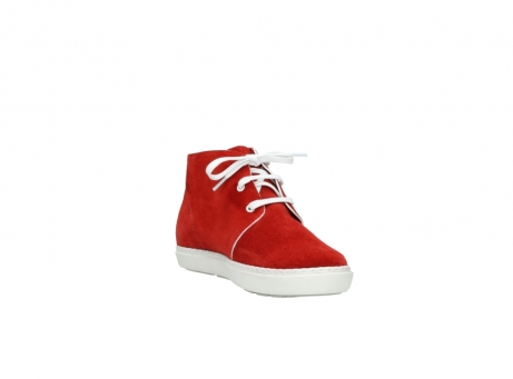 wolky bottines a lacets 09460 columbia 40500 suede rouge_17