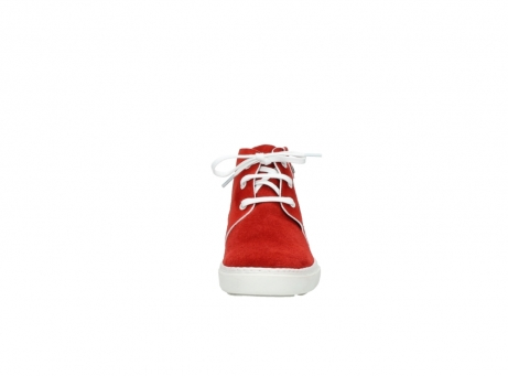 wolky lace up boots 09460 columbia 40500 red suede_19