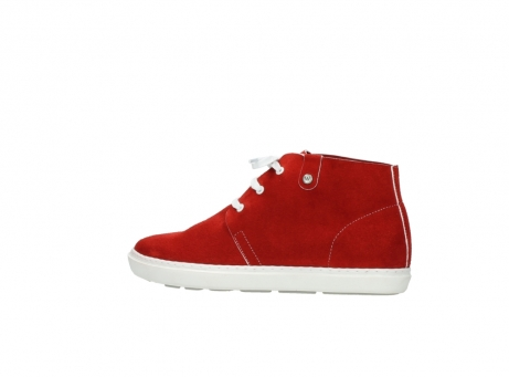 wolky bottines a lacets 09460 columbia 40500 suede rouge_2