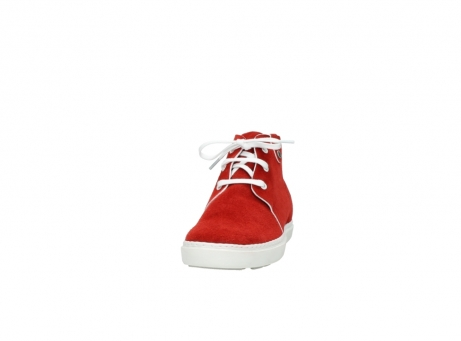 wolky bottines a lacets 09460 columbia 40500 suede rouge_20