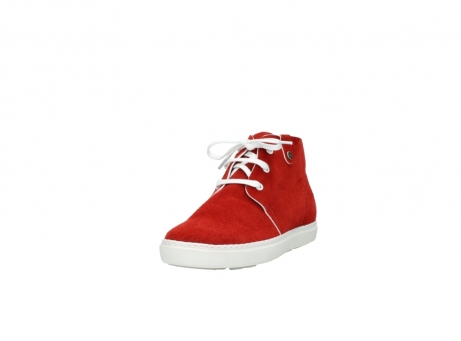 wolky bottines a lacets 09460 columbia 40500 suede rouge_21