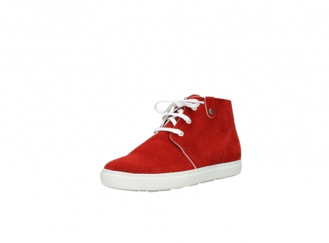 wolky bottines a lacets 09460 columbia 40500 suede rouge_22