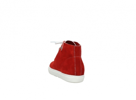 wolky bottines a lacets 09460 columbia 40500 suede rouge_6