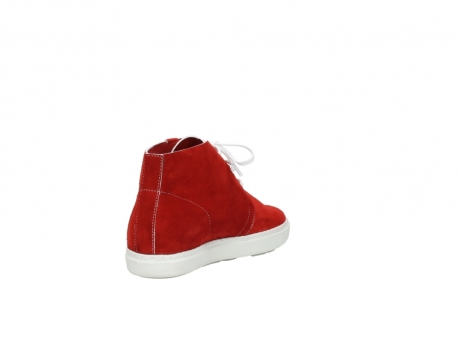 wolky bottines a lacets 09460 columbia 40500 suede rouge_9