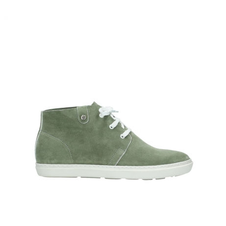 wolky bottines a lacets 09460 columbia 40700 suede vert