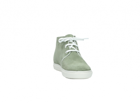 wolky bottines a lacets 09460 columbia 40700 suede vert_18