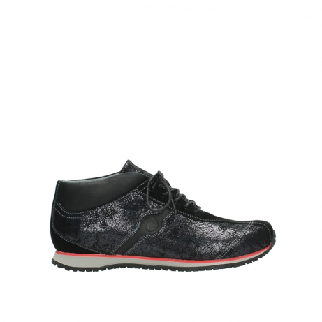 wolky boots 1477 hampton 400 schwarz gedruckt veloursleder
