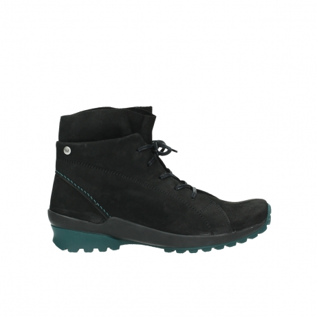 wolky boots 1730 denali 503 schwarz grun geoltes leder