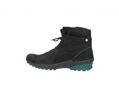 wolky boots 1730 denali 503 schwarz grun geoltes leder_2