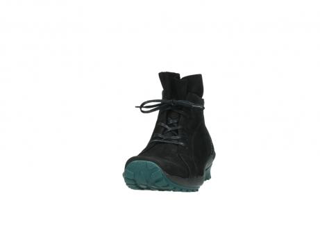 wolky boots 1730 denali 503 schwarz grun geoltes leder_20