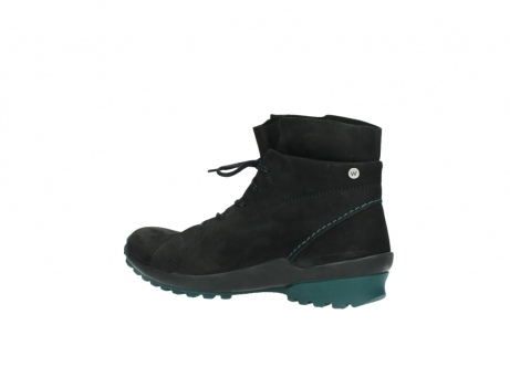 wolky boots 1730 denali 503 schwarz grun geoltes leder_3