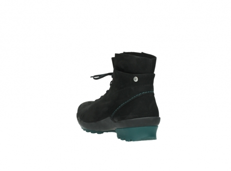 wolky boots 1730 denali 503 schwarz grun geoltes leder_5