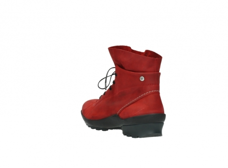 wolky boots 1730 denali 550 rot geoltes leder_5