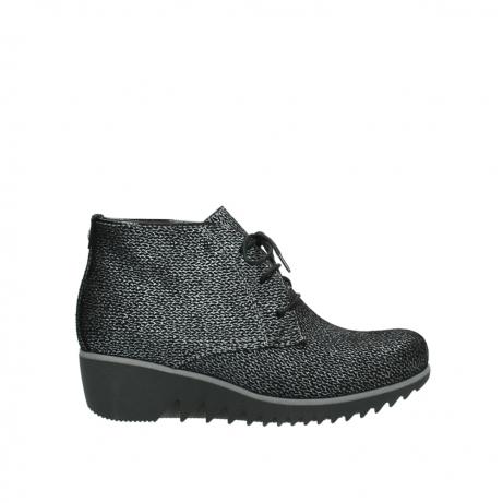 wolky boots 3818 dusky winter 400 schwarz gedruckt veloursleder