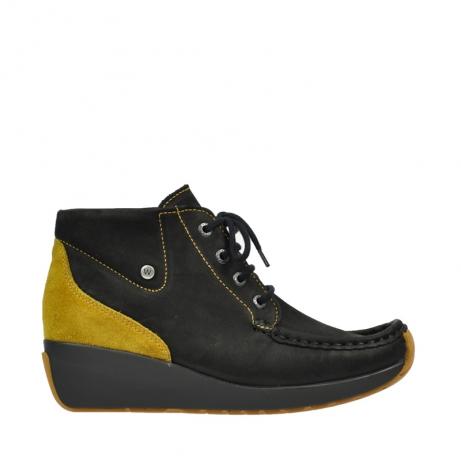 wolky boots 4350 varosa 501 schwarz curry geoltes leder