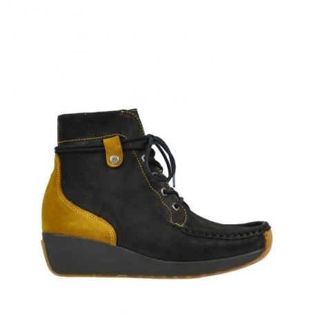 wolky boots 4351 zela 501 schwarz curry geoltes leder
